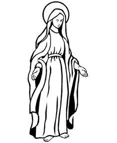 236x288 Image Result For Virgin Mary Sketch Virgin Mary
