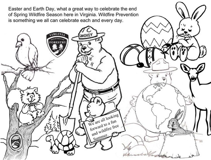 720x545 Virginia Wildfire Information And Prevention Smokey Bear Coloring