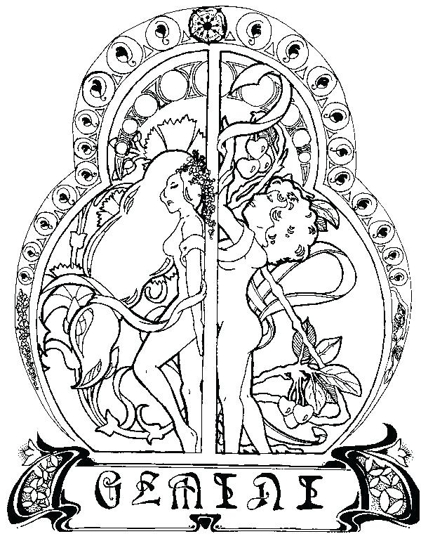 600x770 Zodiac Coloring Pages Zodiac Coloring Pages Stunning Astrology