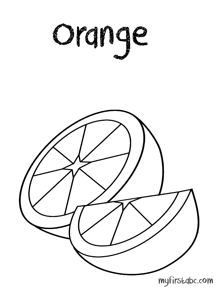 718x958 Orange Coloring Pages