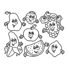 230x230 Apple Coloring Pages For Your Little Ones
