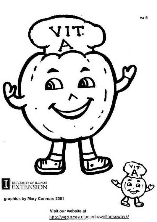 531x750 Coloring Page Vitamin