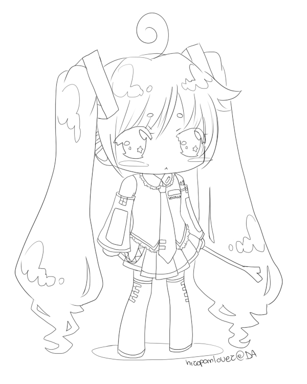 The best free Hatsune coloring page images. Download from 50 free ...