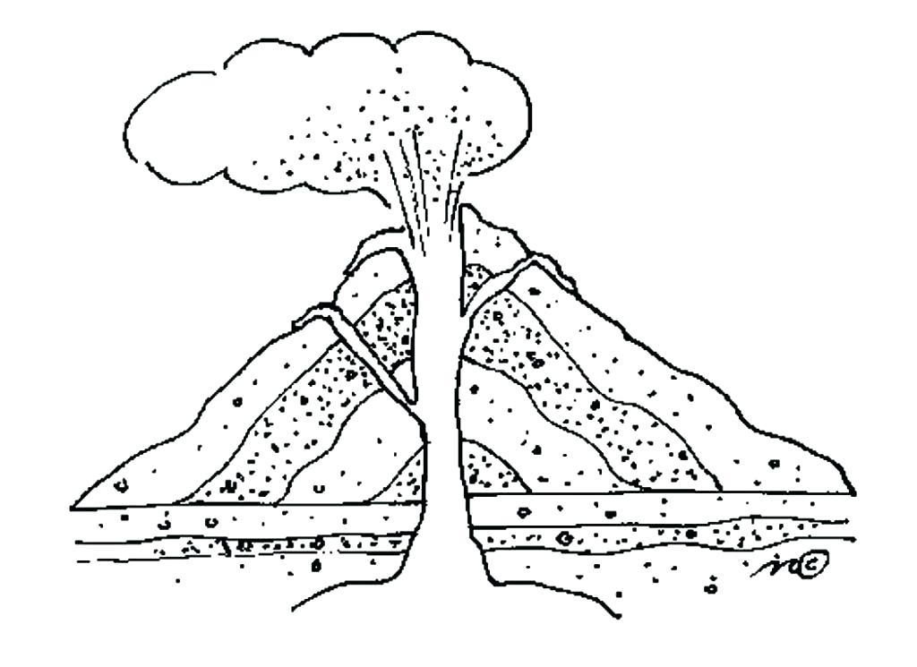 1024x745 This Is Volcano Coloring Pages Images Info This Is Volcano