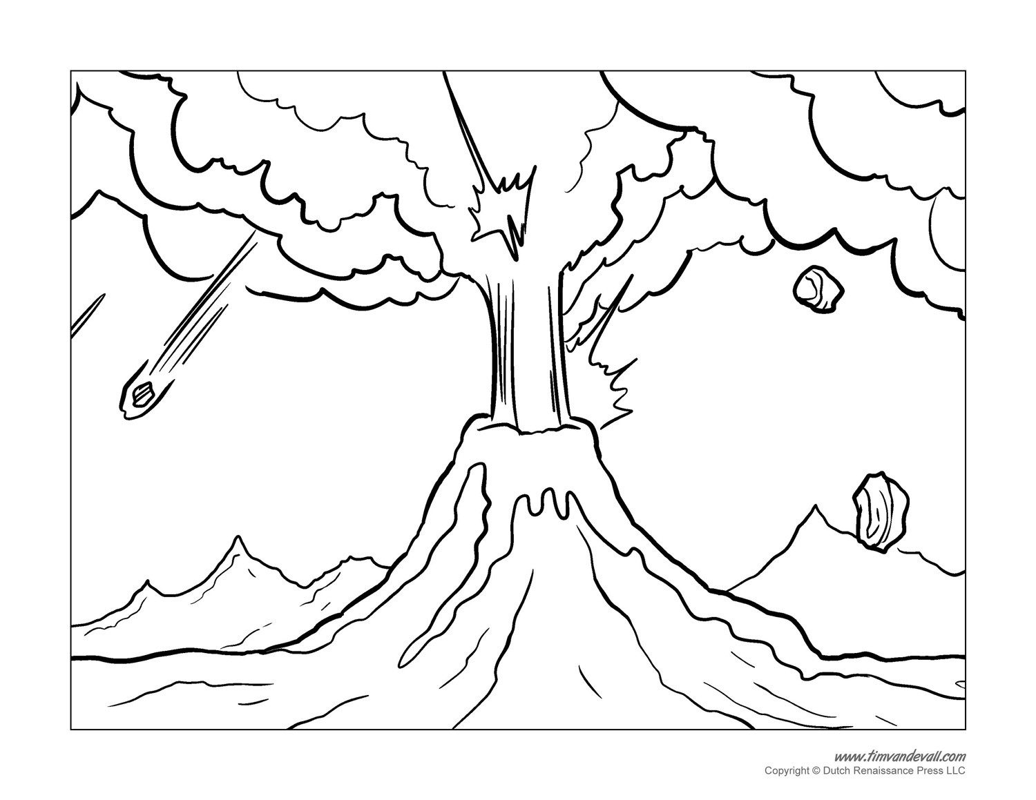 1500x1159 Volcano Coloring Pages Printable Best Of Kids Erupting