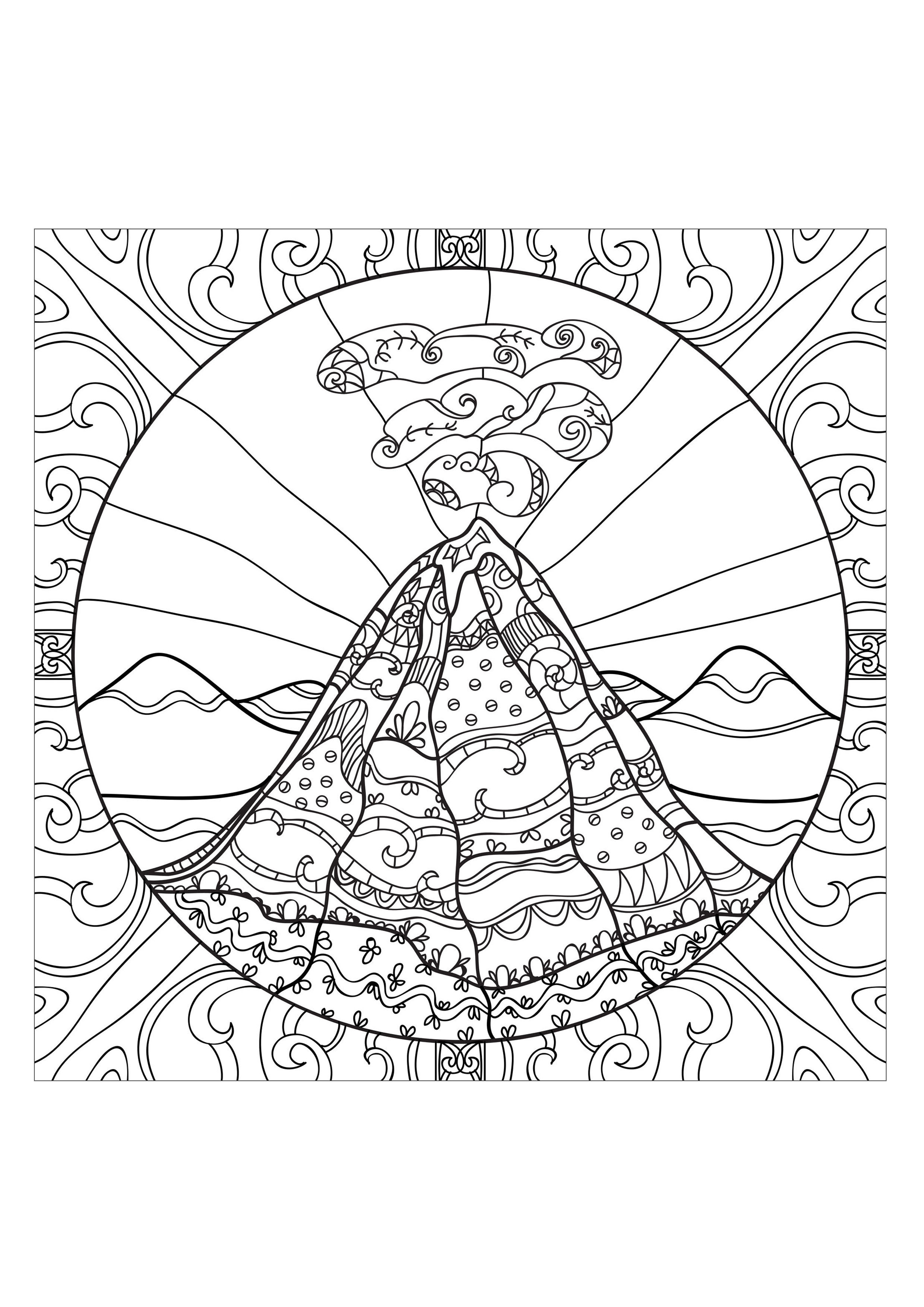 2480x3508 Nice Idea Volcano Coloring Pages To Print Printable For Kids