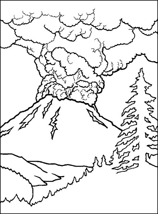 540x731 Free Printable Volcano Coloring Pages For Kids Active Volcano