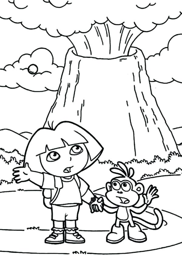 600x842 Volcano Coloring Pages And Erupting Volcano Coloring Page Volcano