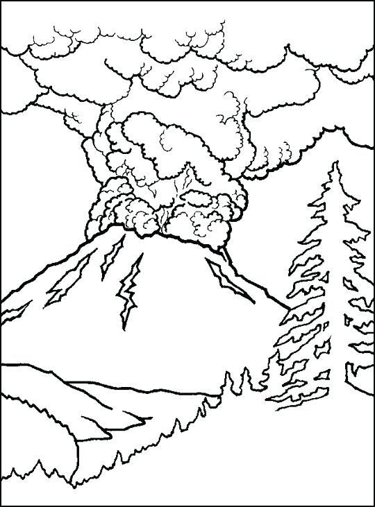 540x731 Volcano Coloring Pages Volcano Coloring Pages Pictures Volcano