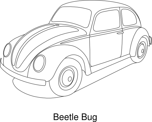 600x481 New Volkswagen Beetle Car Coloring Pages Best Place To Color, Vw