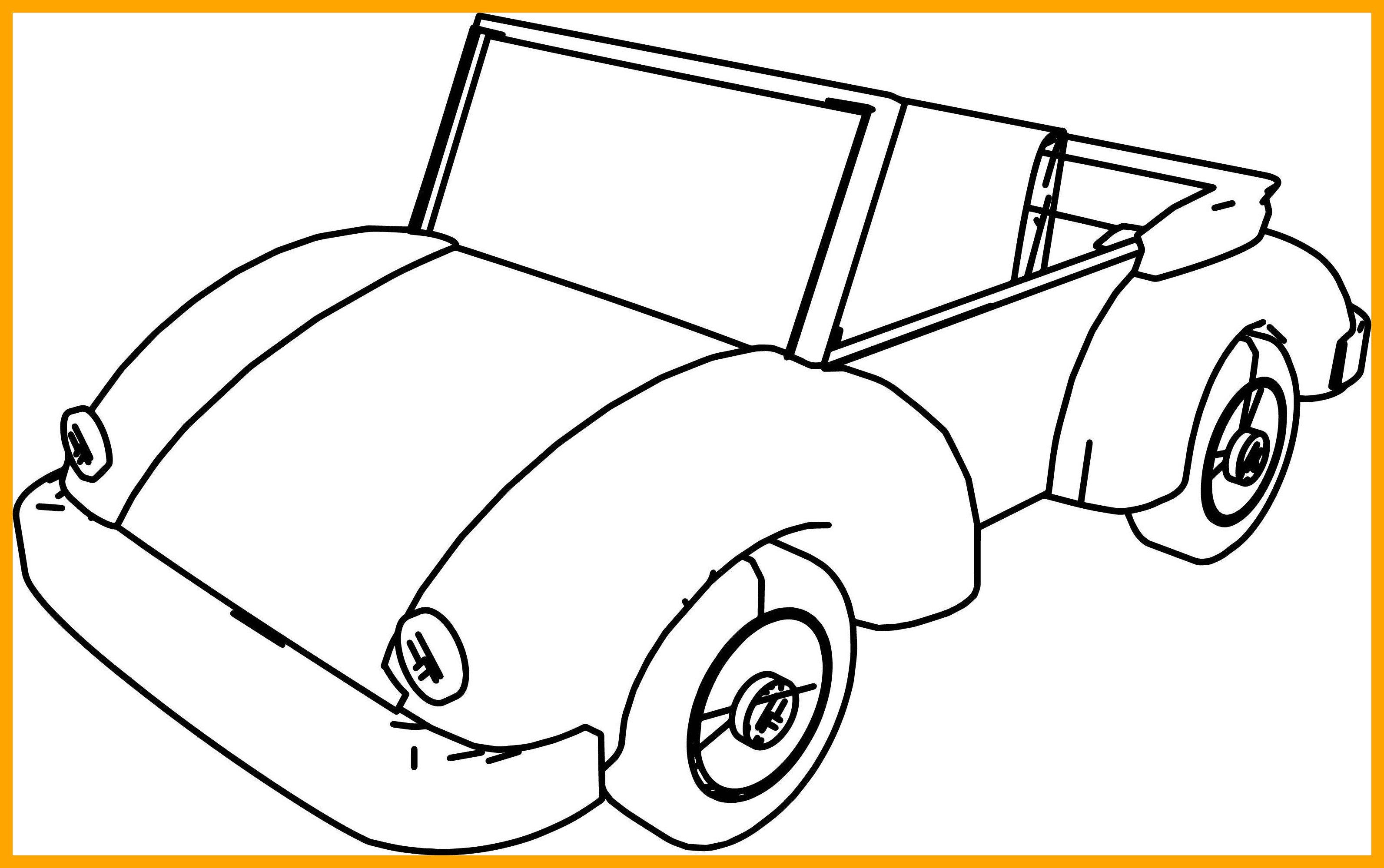 3185x1998 Amazing Cartoon Car Volkswagen Coloring Page Wecoloringpage