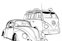 210x140 Volkswagen Bus Coloring Pages Vw Beetle Coloring Pages Google