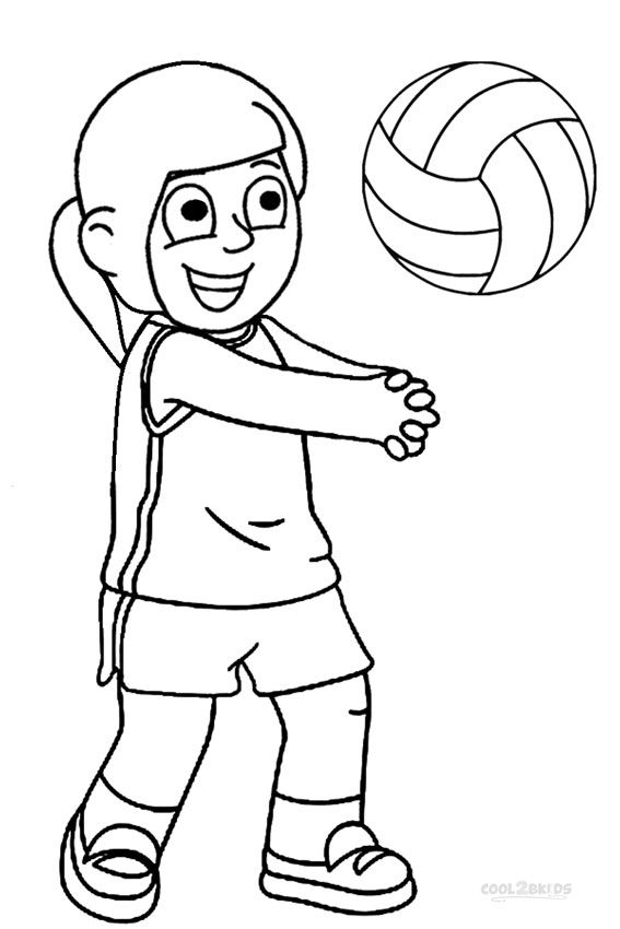 567x850 Printable Volleyball Coloring Pages For Kids Sports