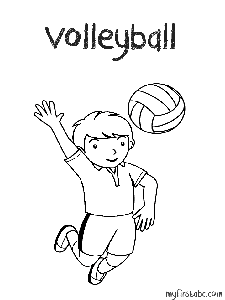 718x958 Volleyball Coloring Page