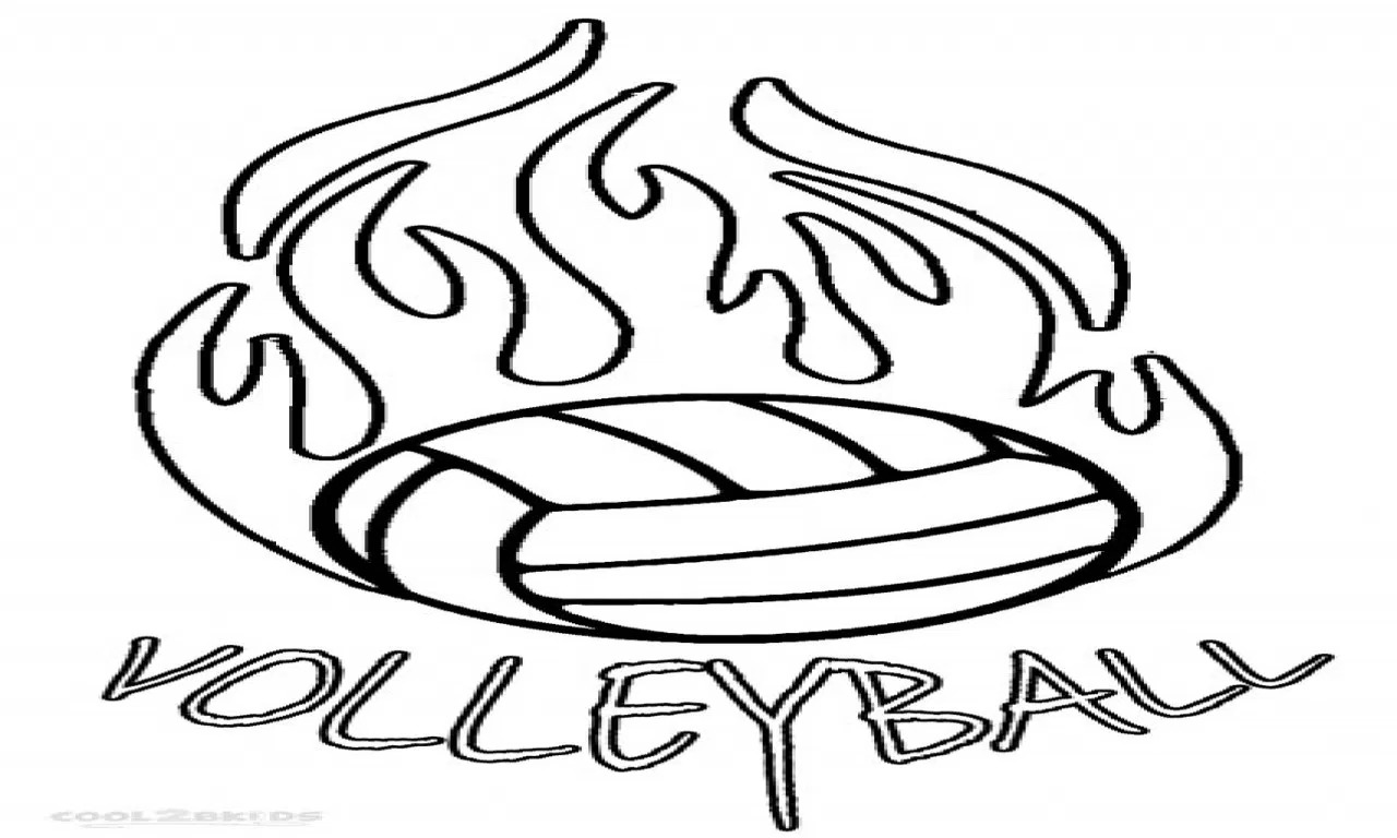 1280x768 Volleyball Coloring Pages