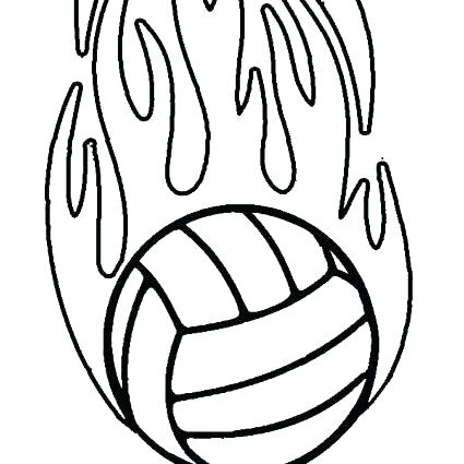 425x425 Volleyball Coloring Pages Coloring Pages Volleyball Coloring Pages