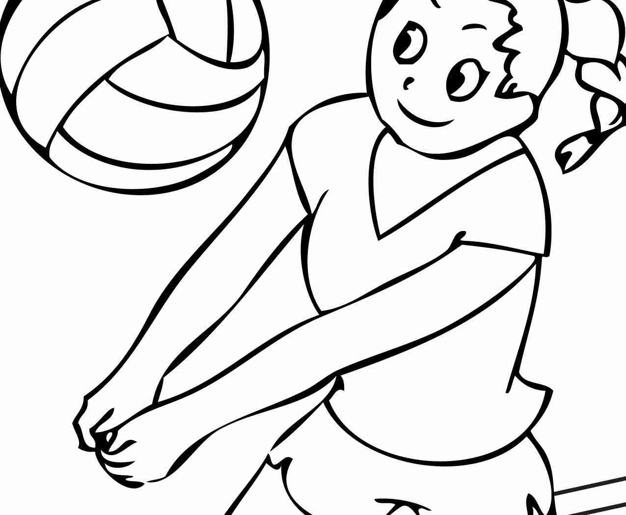 1275x1050 Volleyball Coloring Pages Isolution Me And Olegratiy