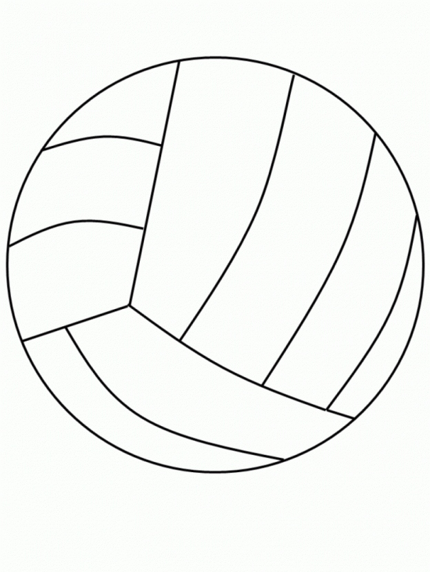 624x831 Volleyball Coloring Pages New Free Printable Volleyball Coloring