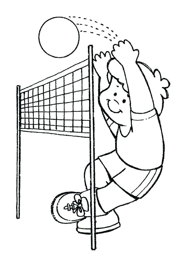 600x860 Volleyball Coloring Pages Volleyball Coloring Pages Volleyball