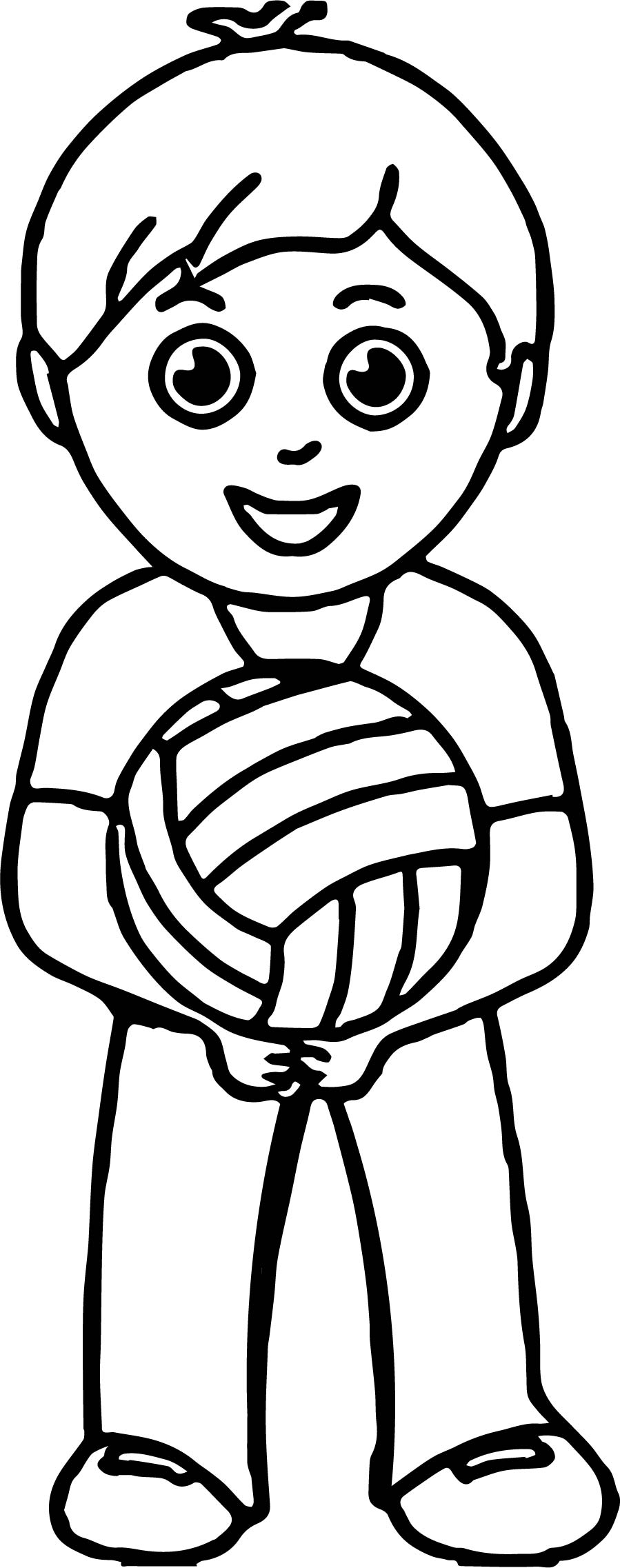 899x2274 Boy Playing Volleyball Coloring Pages Wecoloringpage