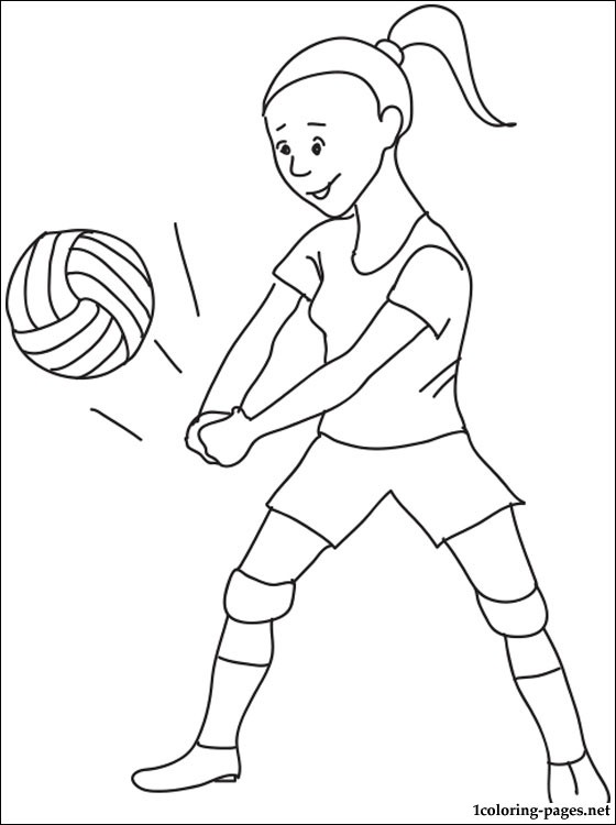 560x750 Volleyball Coloring Page Coloring Pages