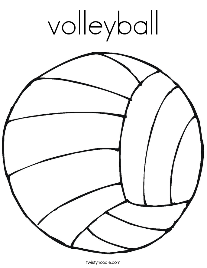 685x886 Volleyball Coloring Page