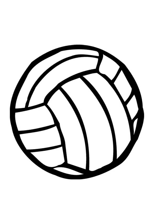 600x847 Volleyball Coloring Page For Kids