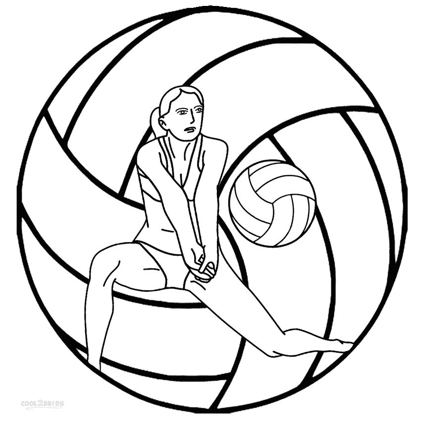 850x850 Coloring Pages Free Printable Beautiful Printable Volleyball