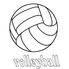 230x230 Coloring Pages Volleyball