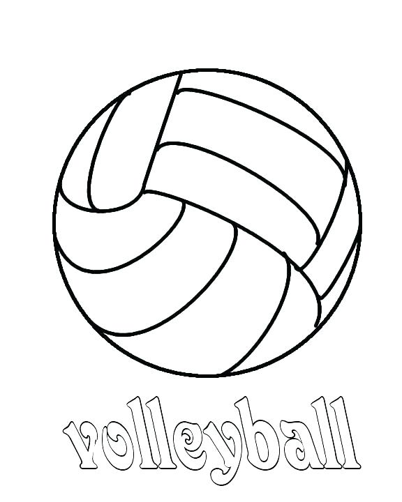 Volleyball Coloring Pages At Getdrawings Free Download