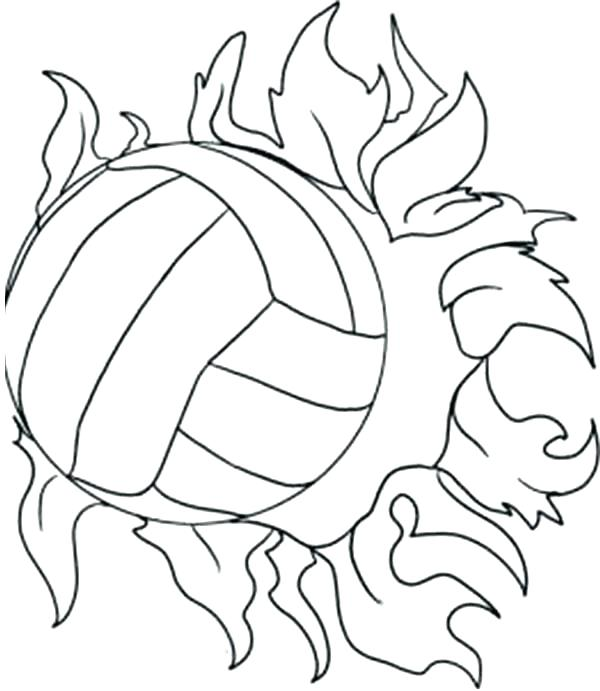 600x691 Free Printable Volleyball Coloring Pages Volleyball Coloring Pages