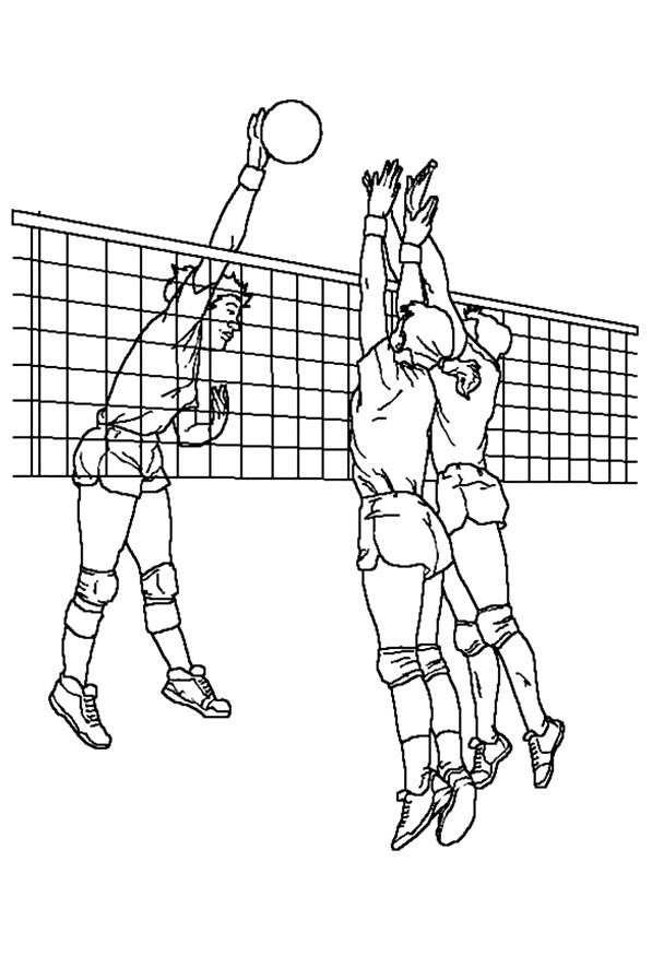 597x875 Free Printable Volleyball Match Coloring Page For Download Also