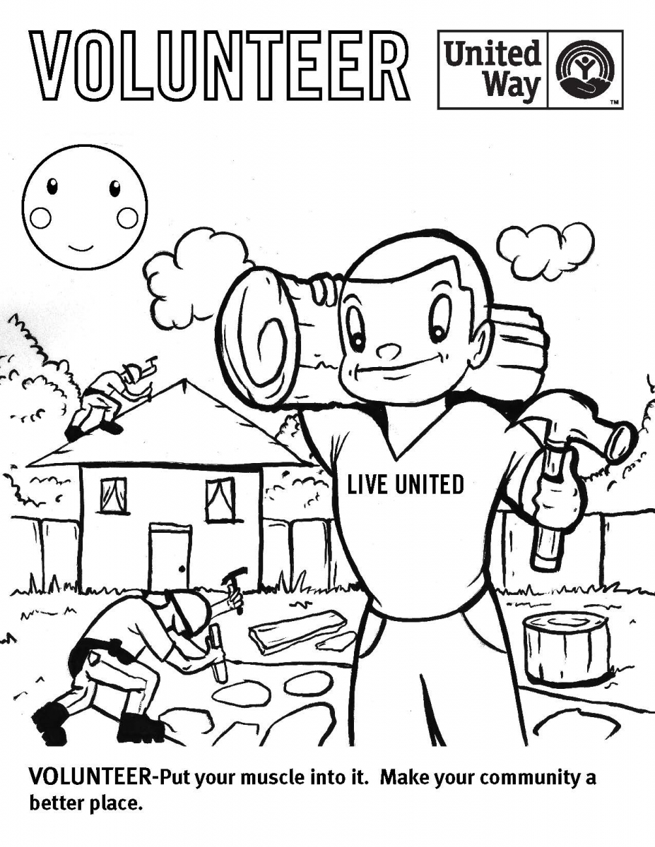 927x1200 Coloring Contest Char Em United Way