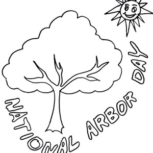 300x300 Volunteer Planting Trees For Arbor Day Coloring Pages Volunteer