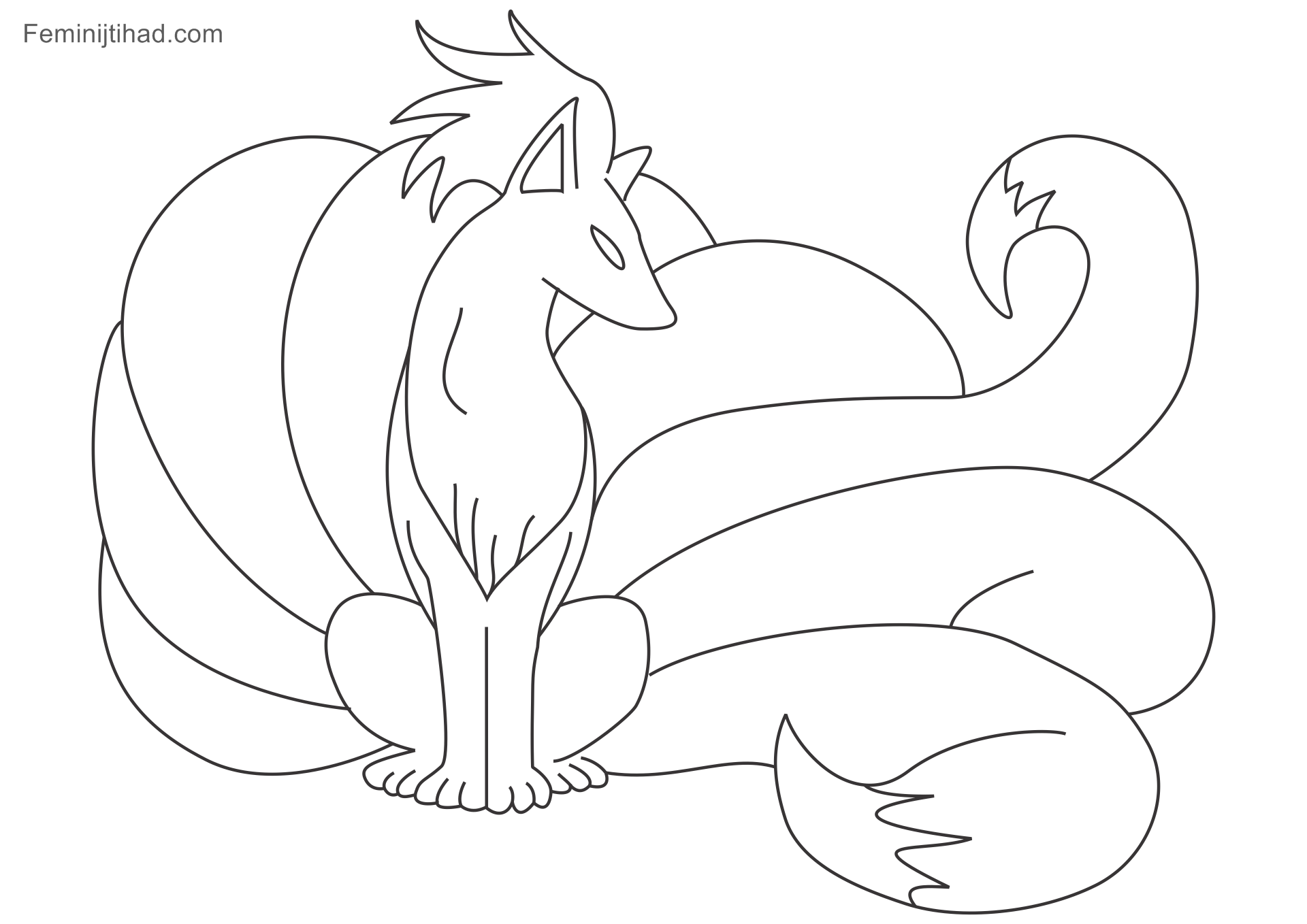 Vulpix Coloring Page