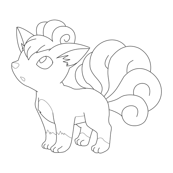 Vulpix Coloring Page At Getdrawings Free Download