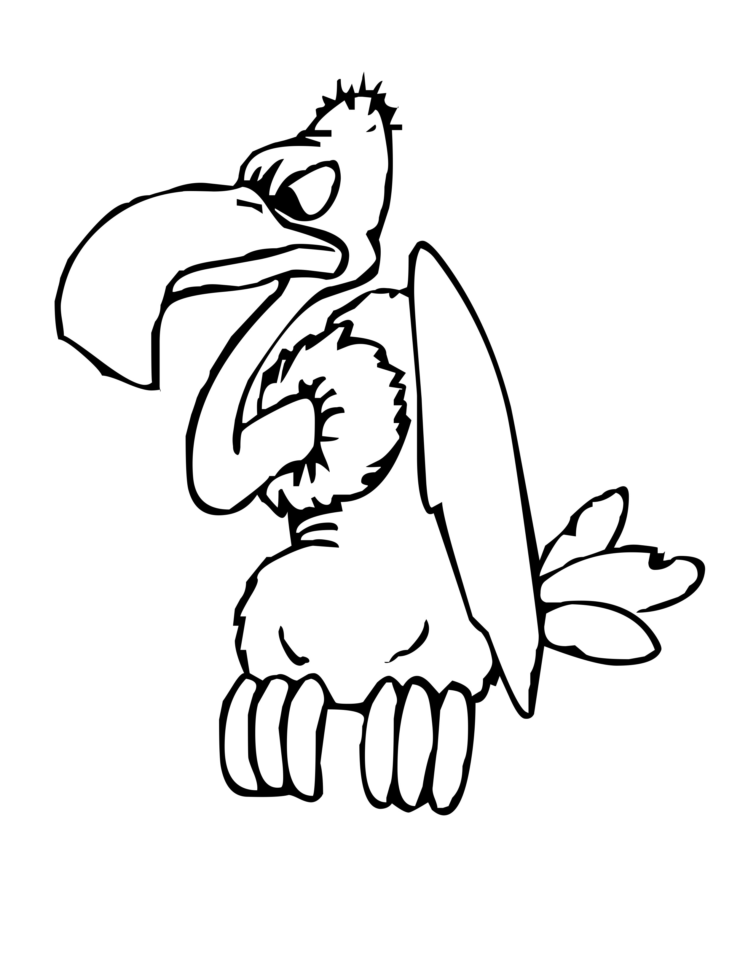2550x3300 Vulture Coloring Pages