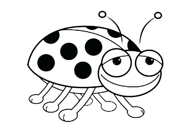 600x449 Bug Coloring Page Smiling Lady Bug Coloring Page Vw Bug Coloring