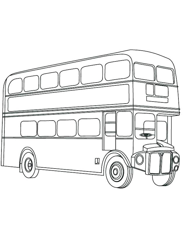 630x810 Bus Coloring Page Bus Coloring Page Coloring Pages Bus Double Bus