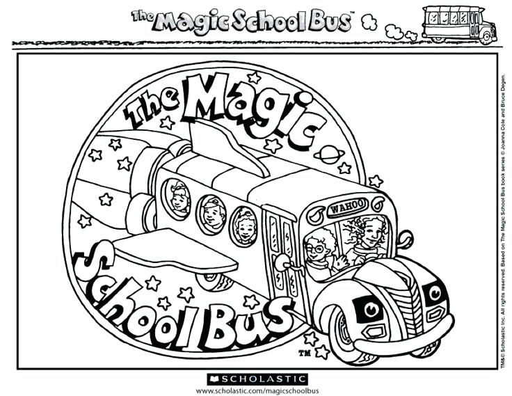 736x569 Bus Coloring Pages Magic School Bus Coloring Page School Bus