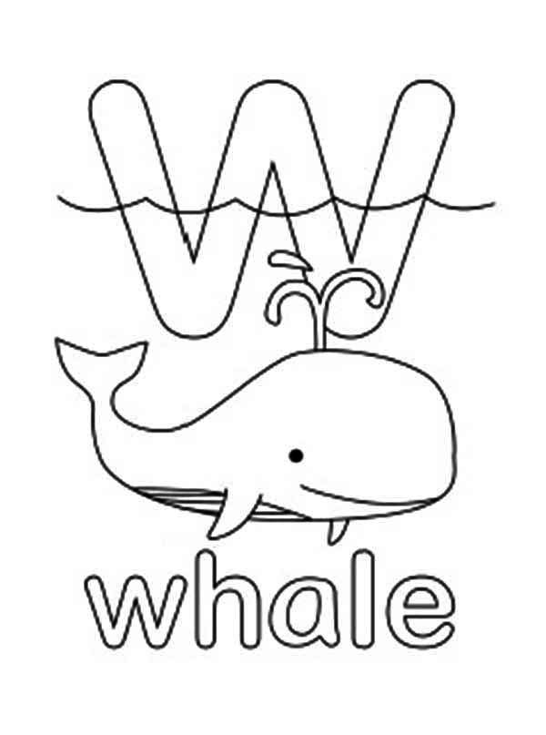 W Coloring Page