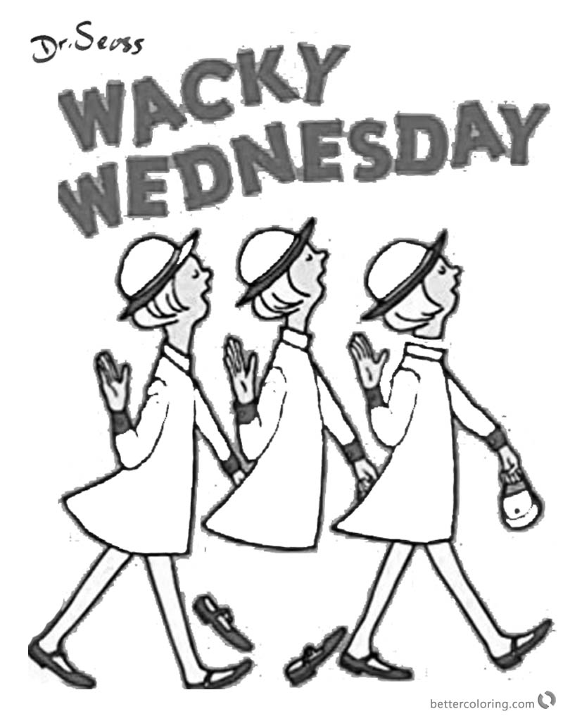 800x1024 Dr Seuss Wacky Wednesday Coloring Pages