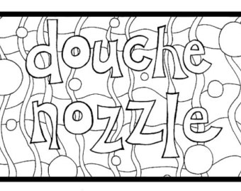 340x270 Twat Waffle Adult Swearing Coloring Sheet Instant Download