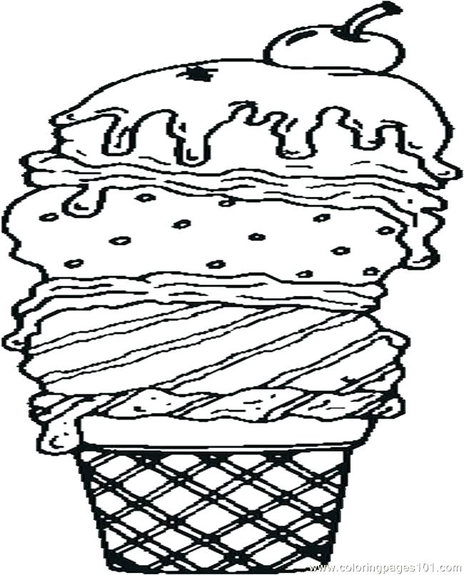 650x806 Waffle Coloring Page Ice Cream Sundae Coloring Page Plus Ice Cream