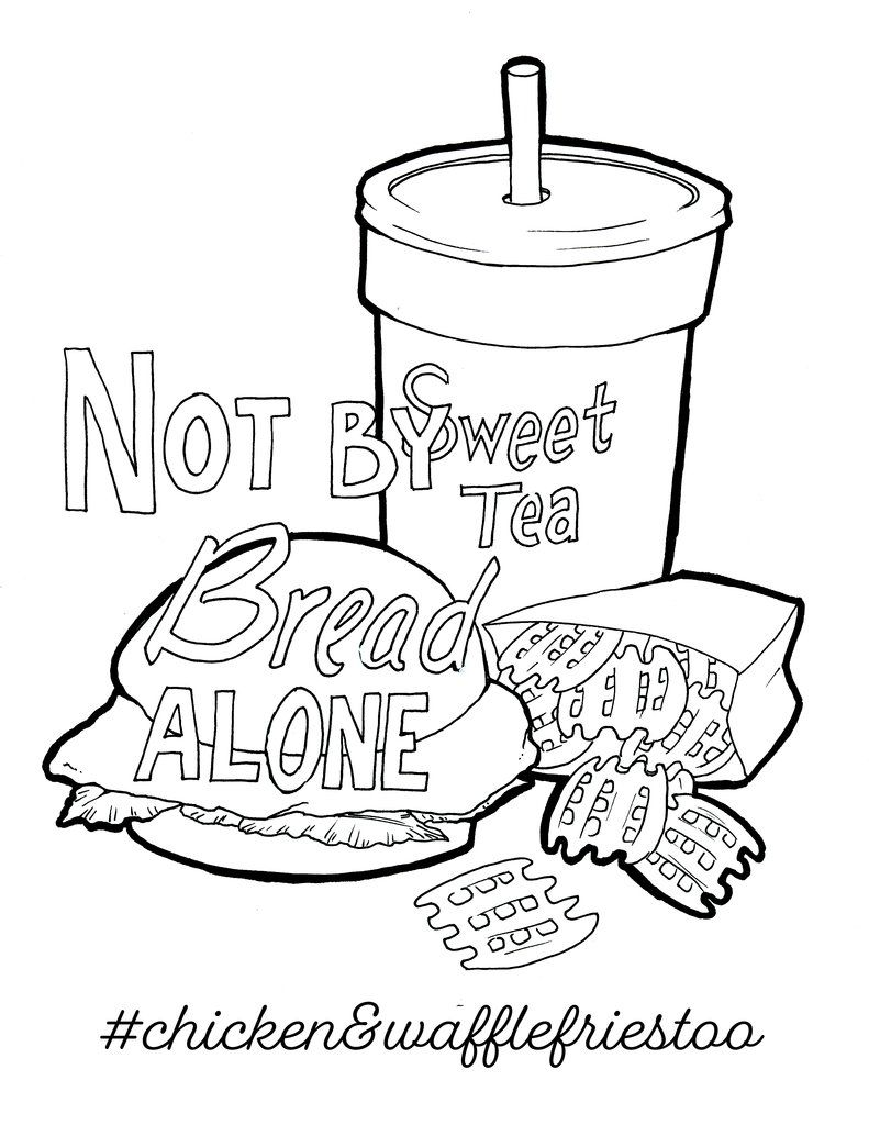 791x1024 Chicken And Waffle Fries Coloring Page Children's Pastor Only