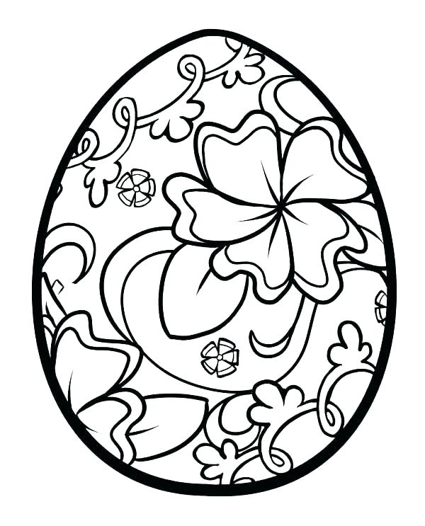 600x743 Printable Easter Egg Coloring Pages