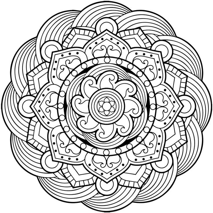 736x736 Complex Mandala Coloring Pages Best Of Flower Waffle Coloring Page