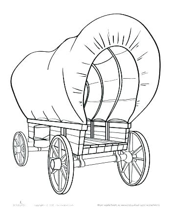 350x440 Trend Covered Wagon Coloring Page Print Horse In A Stable Pages