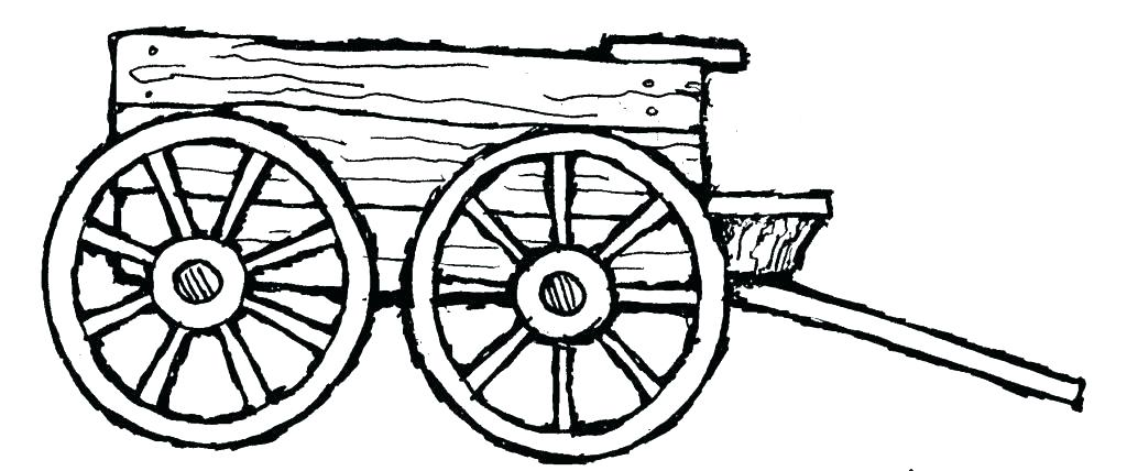 1024x428 Covered Wagon Coloring Page Wagon Coloring Page Click The Hay