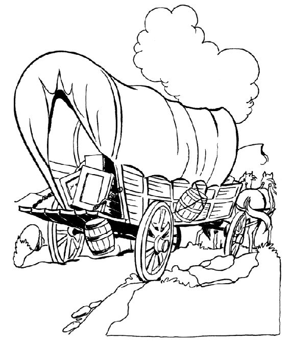 Wagon Train Coloring Pages